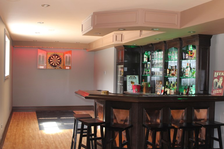 Custom bar with Magic Strip Lighting